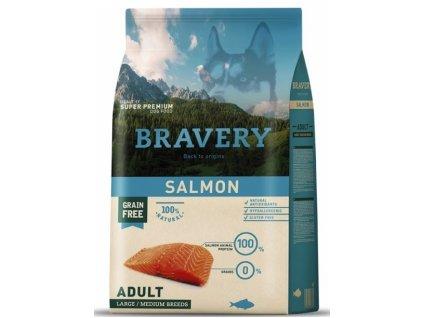 BRAVERY dog ADULT Large / Medium Grain Free salmon 4kg   Tenesco.cz