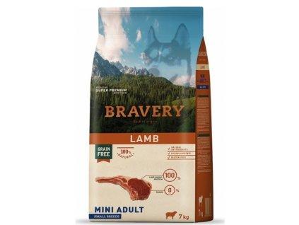 BRAVERY dog ADULT MINI Grain Free lamb 7kg   Tenesco.cz