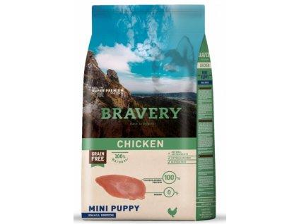 BRAVERY dog PUPPY MINI Grain Free chicken 2kg   Tenesco.cz
