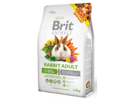 2739 brit animals rabbit adult complete 1 5kg