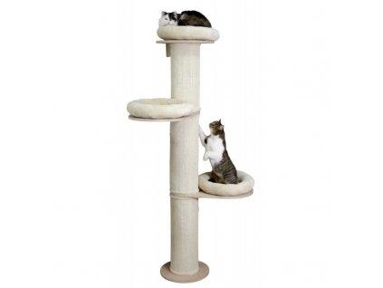 Kočičí strom DOLOMIT Tower - béžové škrabadlo pro kočky, 38 x 187 cm