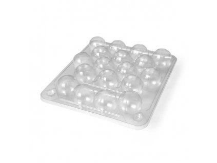 Plastový blistr na křepelčí vejce - obal na 18. ks vajec