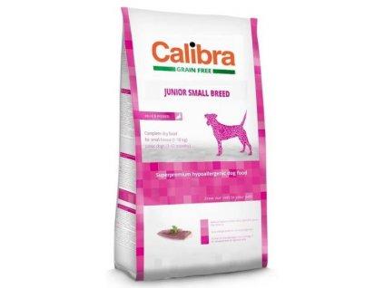 7836 calibra dog gf junior small breed duck 2kg