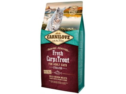 5226 carnilove cat fresh carp trout sterilized 6kg