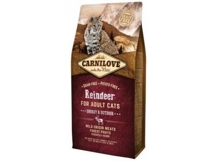 3801 carnilove cat reindeer for adult cats energy outdoor 6kg