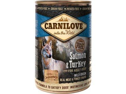 3720 carnilove wild meat salmon turkey 400g
