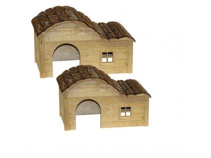 Domek pro malé hodavce, s kulatou střechou, 40 x 25 x 25 cm