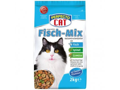 4773 perfecto cat granule rybi mix ryba zelenina 2kg