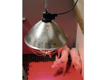 1922 3 infrazaric vyhrevna lampa se sirokym kloboukem kabel 5 m