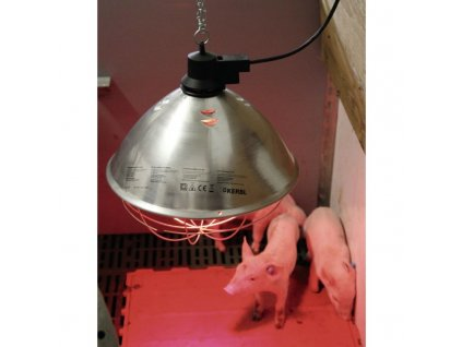 infrazaric vyhrevna lampa se sirokym kloboukem kabel 5 m