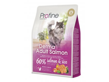 4395 1 profine cat derma adult salmon 2kg