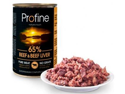 9903 profine pure meat beef beef liver 400g baleni 6ks