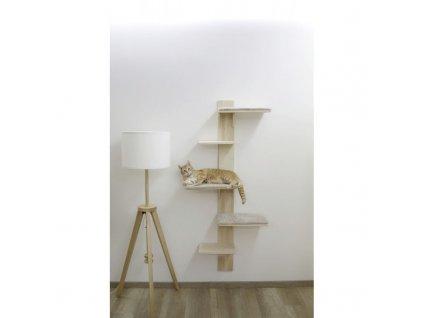 Kočičí strom na zeď, škrabadlo pro kočky, 150 cm, přírodní