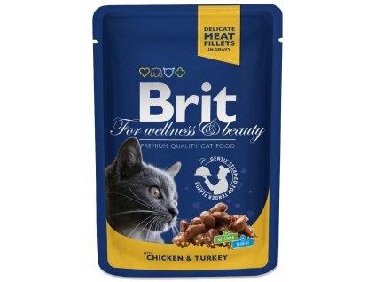 10851 brit premium cat pouches s krocanem a kurecim 100 g 20 4 zdarma