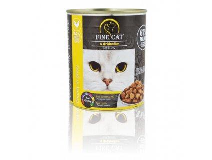 Fine Cat konzerva pro kočky s drůbežím 830 g
