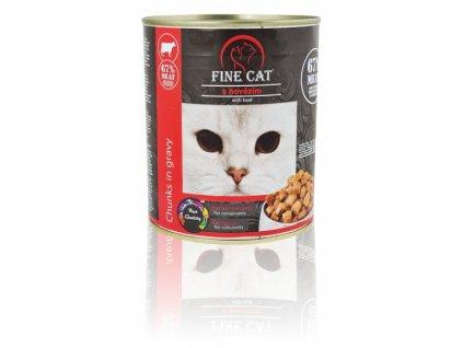 Fine Cat konzerva pro kočky s hovězím