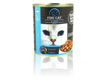Fine Cat konzerva pro kočky s rybou