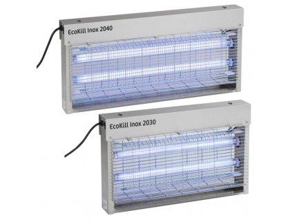 Hubič much elektrický EcoKill Inox, nerez, 2 x 20 W