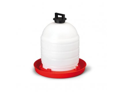 Napáječka pro drůbež plastová klobouková s držadlem, 15 l, bajonet