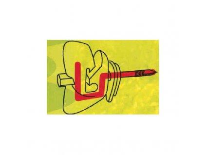 Izolátor pro elektrický ohradník - motýlek, vyztužený, pro pásku i lanko