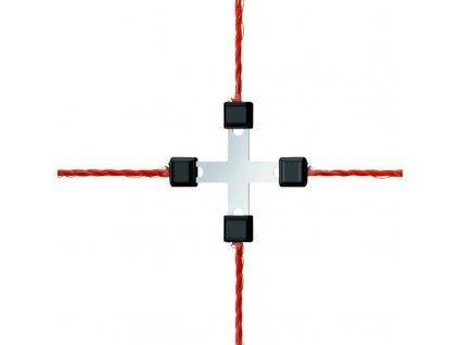 Litzclip®, spojka na lanko, křížová, nerez, 5 ks