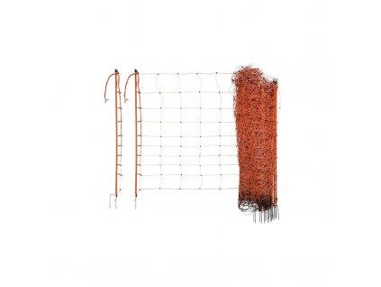 Síť k elektrickým ohradníkům na ovce Ovinet, 90cm, 50m, oranžová, 1 hrot