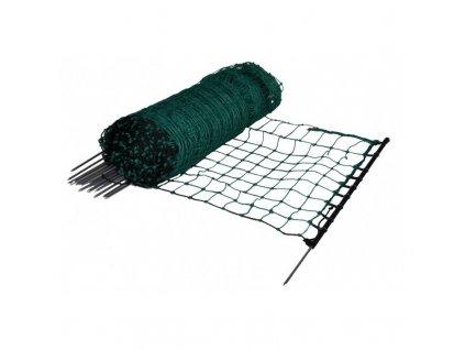 Síť elektrická pro králíky a jiné hlodavce, zelená, 12 m / 1 hrot