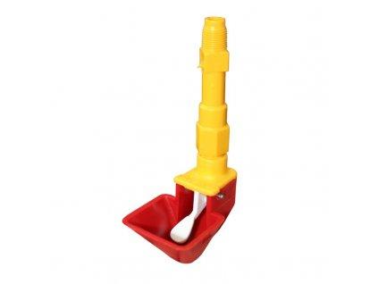 Automatická napáječka menší pro drůbež a křepelky s prodloužením 5 cm, žluté