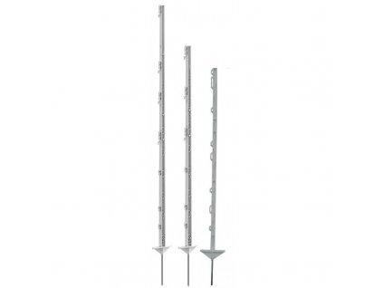 Tyčka - sloupek pro elektrický ohradník, plastová, bílá, 125 cm