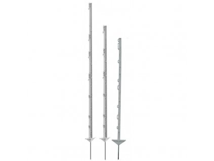 Tyčka - sloupek pro elektrický ohradník, plastová, bílá, 156 cm