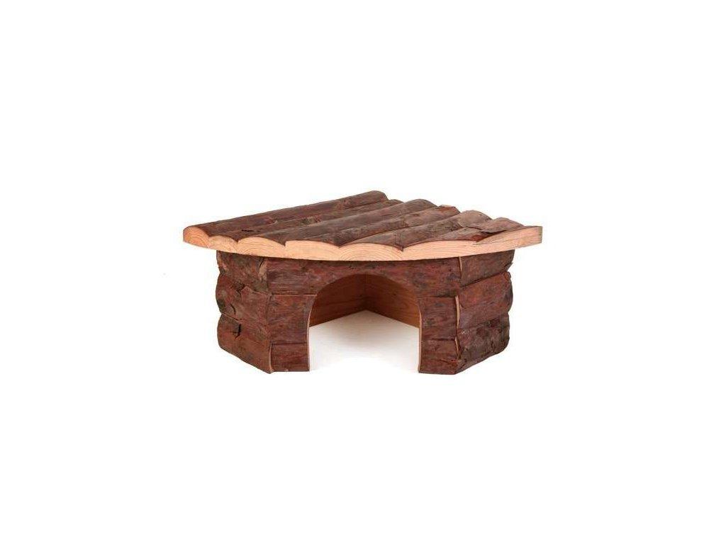 Dřevěný dům rohový JESPER pro křečky 22x10x15 15cm