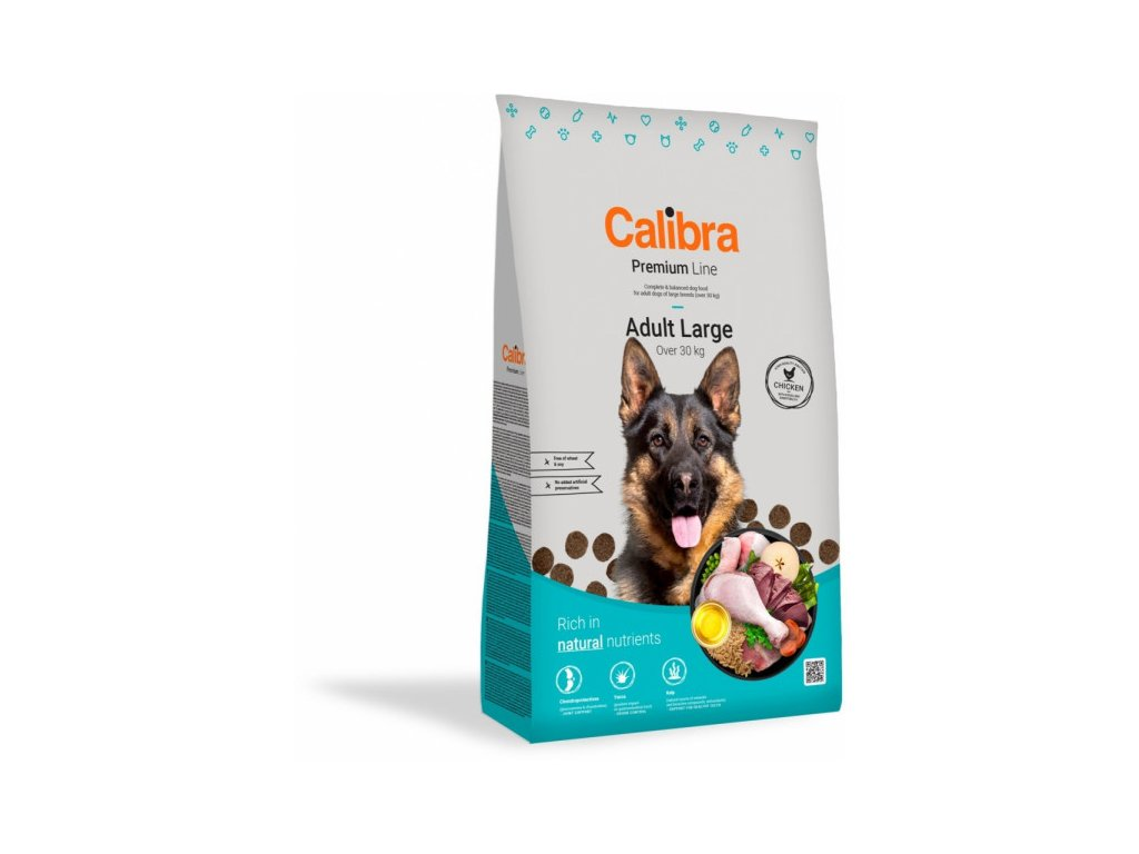calibra dog premium line adult large 12 kg new