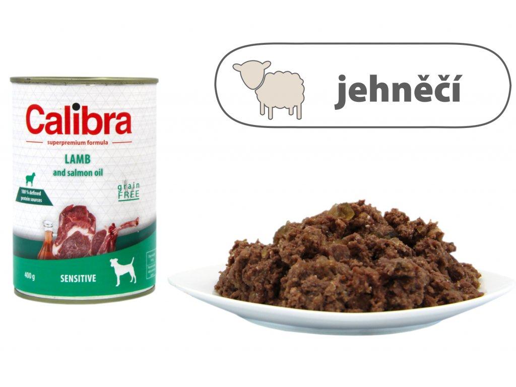 Calibra Lamb and Salmon Oil štítek