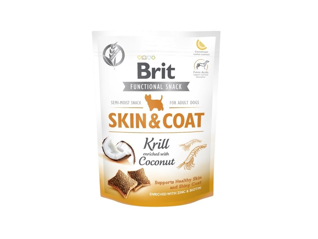 Brit Care Dog Functional Snack Skin & Coat Krill 150g