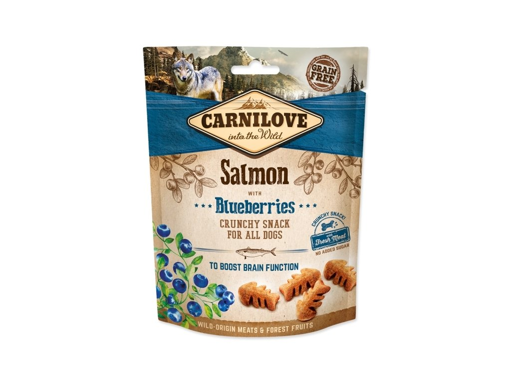 Carnilove Dog Crunchy Snack Salmon & Blueberries 200g