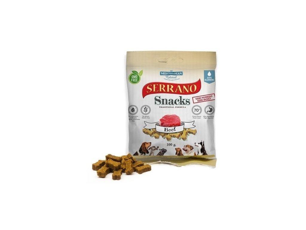 Serrano Snack Meditky hovězí 100g tréninkové kostičky