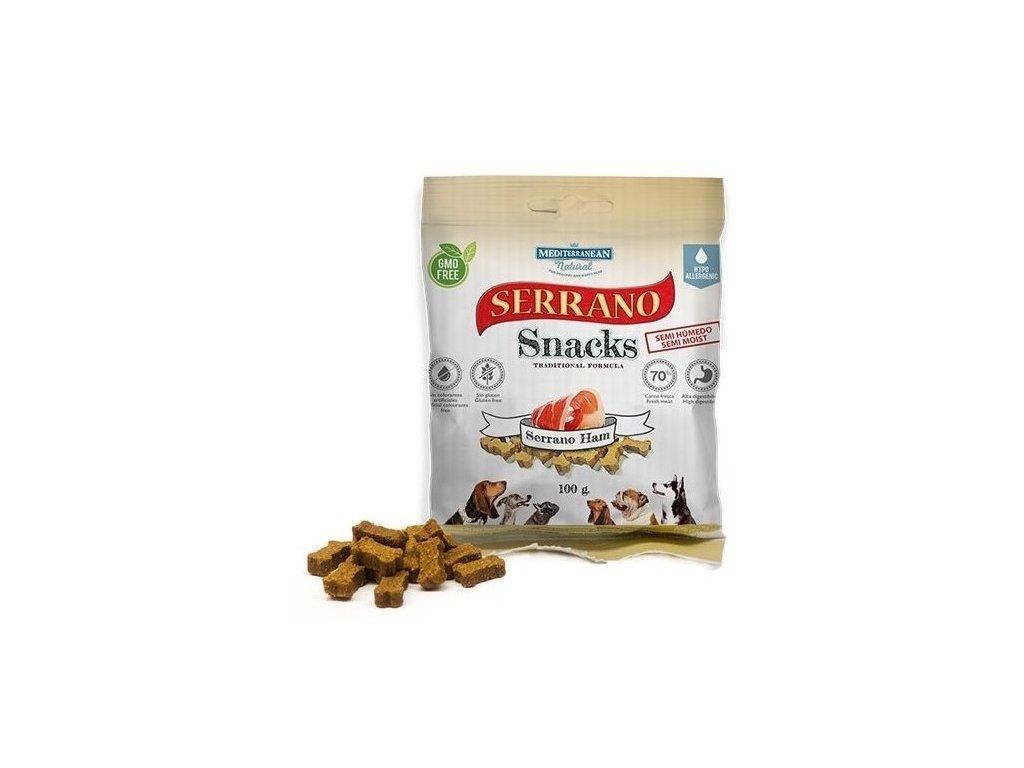 Serrano Snack Meditky šunkové 100g tréninkové kostičky