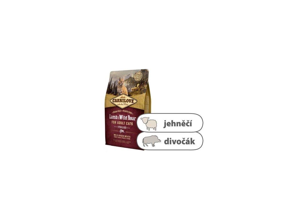 Carnilove CAT Lamb & Wild Boar for Adult Cats Sterilised 2 kg