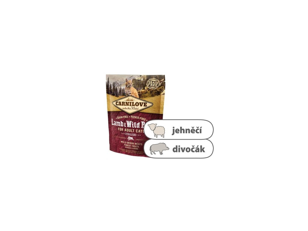 Carnilove CAT Lamb & Wild Boar for Adult Cats Sterilised 400 g