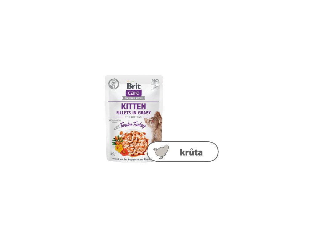 Brit Care Cat Kitten Fillets in Gravy with Tender Turkey 85 g