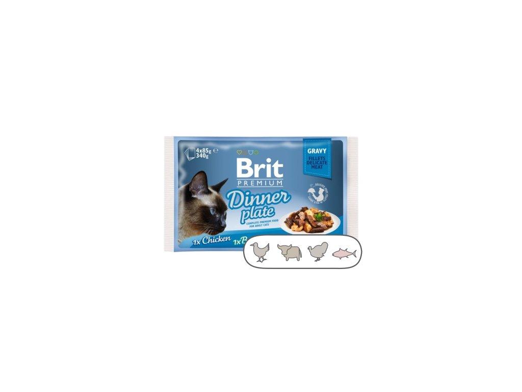 Brit Premium Cat Delicate Fillets in Gravy Dinner Plate 340 g