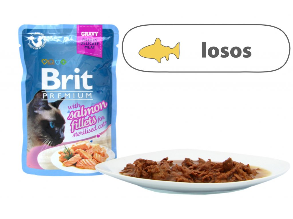 Brit Premium Cat Delicate Fillets in Gravy Salmon Sterillised 85 g