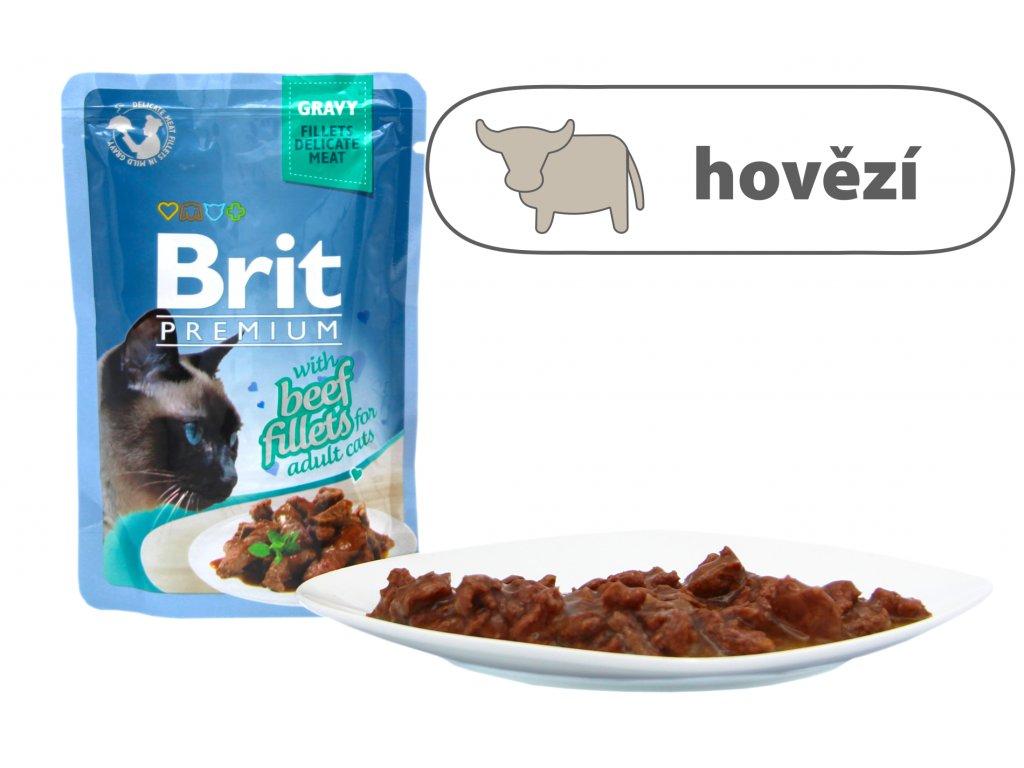 Brit Premium Cat Delicate Fillets in Gravy with Beef 85 g