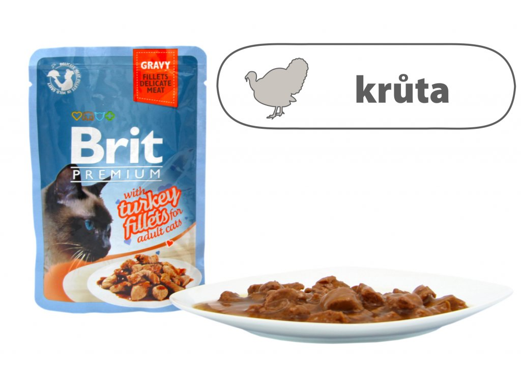 Brit Premium Cat Delicate Fillets in Gravy with Turkey 85 g