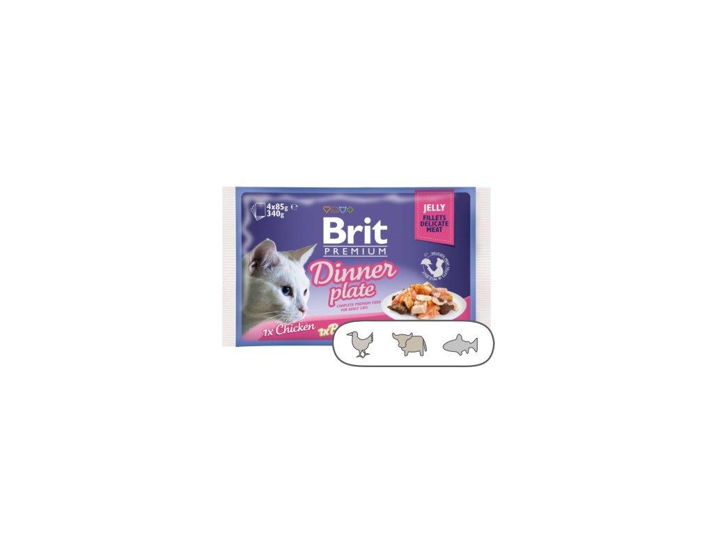 Brit Premium Cat Delicate Fillets in Jelly Dinner Plate 340 g