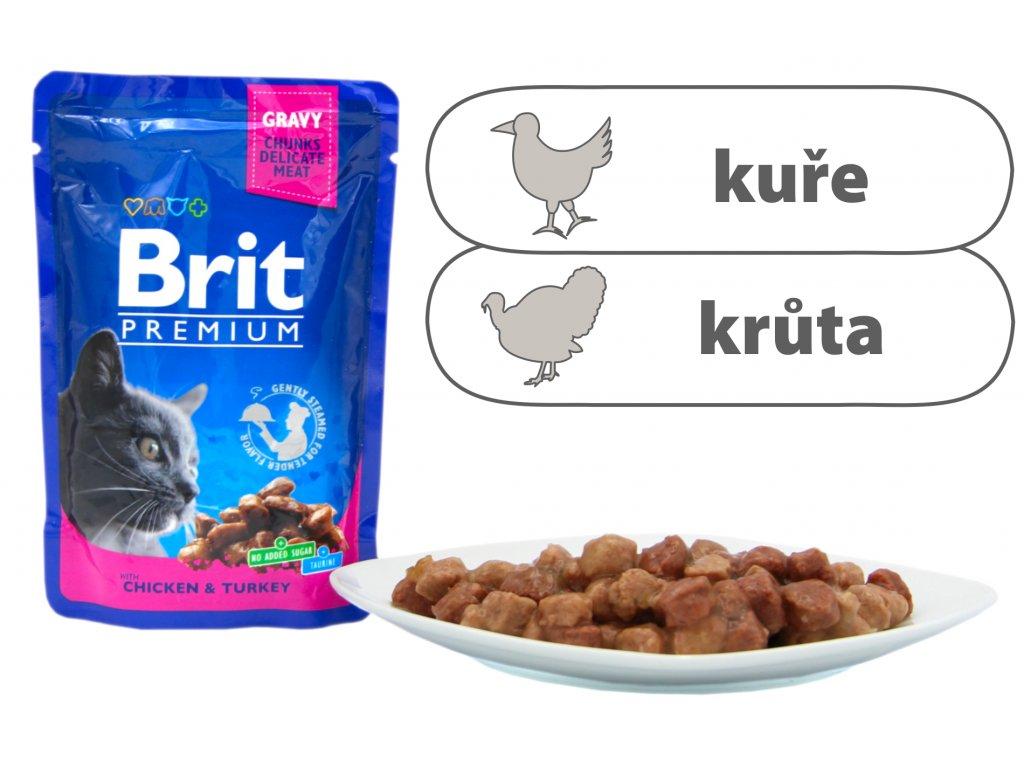 Brit Premium Cat Pouches s krocanem a kuřecím 100 g