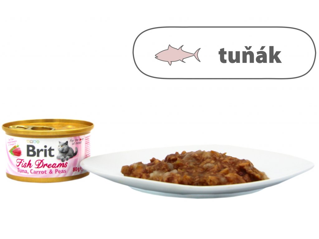 Brit Fish Dreams Tuna, Carrot & Peas 80 g
