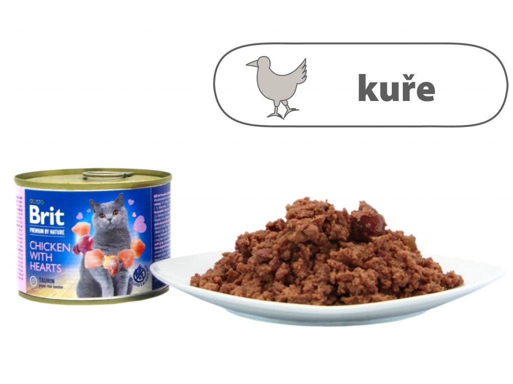 Brit Premium by Nature Chicken with Hearts 200 g