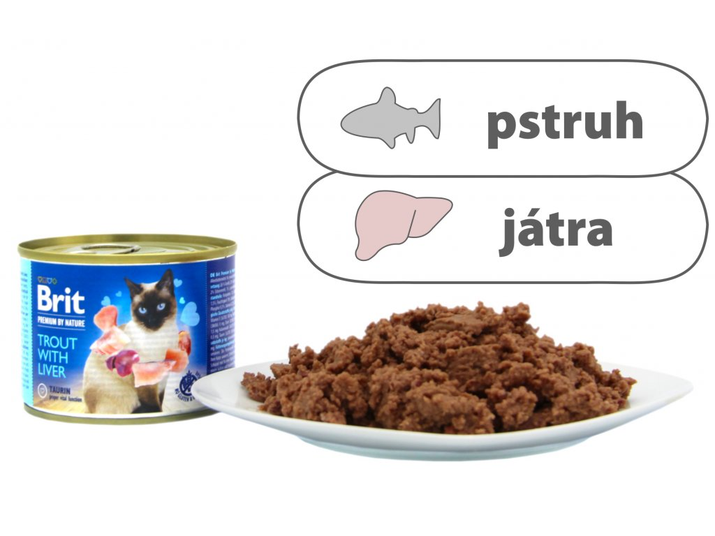 Brit Premium by Nature Trout with Liver 200 g