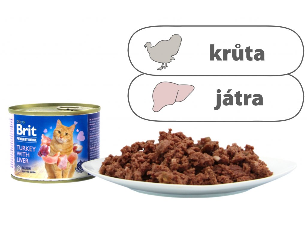 Brit Premium by Nature Turkey with Liver 200 g